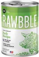 Bixbi Pet RAWBBLE Wet Dog Food Pork Recipe 12-12.5OZ