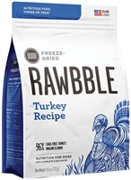 RAWBBLE FREEZE DRIED DOG FOOD - TURKEY RECIPE  12 OZ