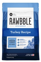 BIXBI Pet RAWBBLE Turkey Kibble for Dogs, 4 LB