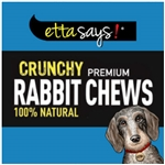 ETTA SAYS DOG 4IN CRUNCHY RABBIT CHEW STICKS 36 COUNT