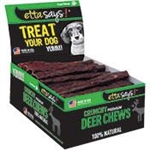 ETTA SAYS DOG 4IN CRUNCHY DEER CHEW STICKS 36 COUNT