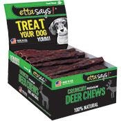 ETTA SAYS!  Crunchy Deer Chew Box - 4-Inch - 36 Count