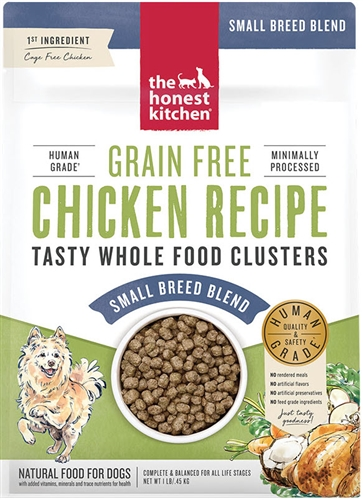 The Honest Kitchen WHOLE FOOD CLUSTERS FOR SMALL BREEDS - GRAIN FREE CHICKEN, 1 LB