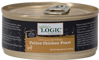 NATURE'S LOGIC FELINE CHICKEN FEAST 24 - 5.5 OZ