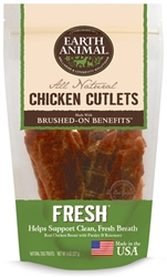 EARTH ANIMAL FRESH CHICKEN CUTLETS TREATS 8 OZ