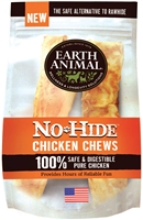 EARTH ANIMAL NO-HIDE CHEW CHICKEN FOR DOGS, 4 INCHES, 2 PACK