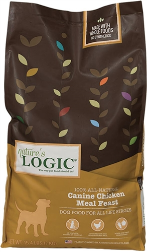 NATURE'S LOGIC CANINE CHICKEN MEAL FEAST  15.4LB