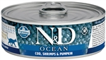 Farmina Natural & Delicious Ocean Feline Cod, Shrimp & Pumpkin Cans