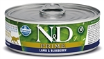 Farmina Natural & Delicious Prime Feline Lamb & Blueberry Cans 12 -2.8 oz case cans