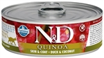 Farmina Natural & Delicious Quinoa Feline Skin & Coat Duck & Coconut Cans