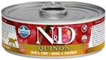 Farmina Pet Foods - Cat food - N&D Quinoa Functional Feline - Skin & Coat Quail wet food