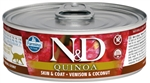 Farmina Natural & Delicious Quinoa Feline Skin & Coat Venison & Coconut for Cats