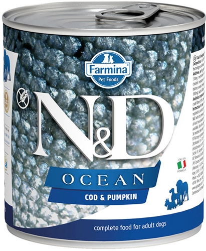 Farmina Pet Foods N&D Ocean canine - Cod & Pumpkin wet Dog food   6 - 10 oz can case