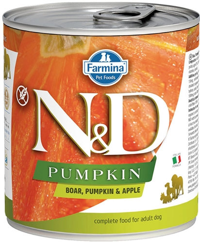 Farmina Natural & Delicious Boar, Pumpkin & Apple Adult Wet Food for Dogs 6 -10 oz cans