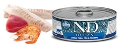 Farmina Pet Foods - Cat food - N&D Ocean feline - Tuna, Cod & Shrimp Adult wet food
