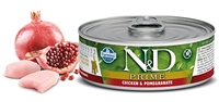 Farmina Natural & Delicious Prime Feline KITTEN Chicken & Pomegranate Cans 12 - 2.8 oz