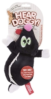 Hear Doggy! Flat Black Skunk Dog Toy