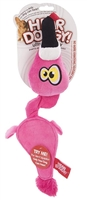 Hear Doggy! Flat Pink Flamingo Dog Toy