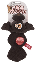 Hear Doggy Flat Brown Beaver Dog Toy