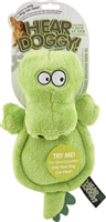 HEAR DOGGY! Flat  Gator Large Dog Toy