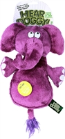 HEAR DOGGY! Flat Elephant Large Dog Toy