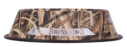 Browning Stainless Steel Pet Dish, Shadow Grass Blades
