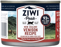 Ziwi Peak Moist Venison For Cats 12 -6.5 oz cans