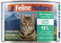 FELINE NATURAL Lamb Feast 24-6 OZ can case