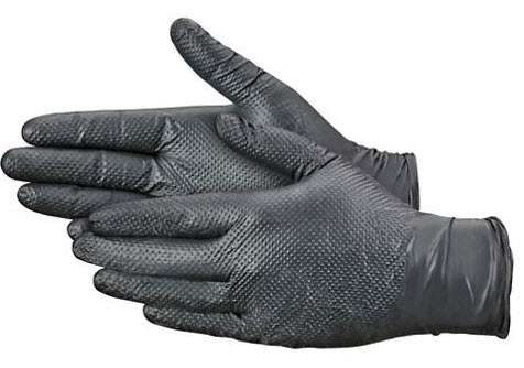 "SECURE GRIPâ""¢ NITRILE INDUSTRIAL GLOVES, Powder-Free, S-20863 XLarge 50 COUNT"