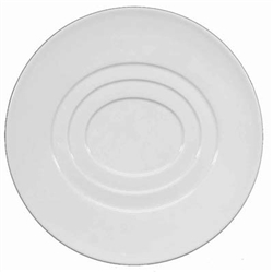 Hommage Dessert Plate - Oval Concentric Center by Raynaud