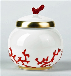 Cristobal Coral Sugar Bowl by Raynaud