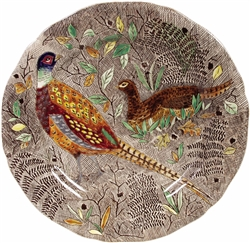 Rambouillet Pheasant Dinner Plate by Gien France
