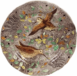 Rambouillet Woodcock Dinner Plate by Gien France