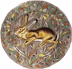 Rambouillet Hare Dinner Plate by Gien France