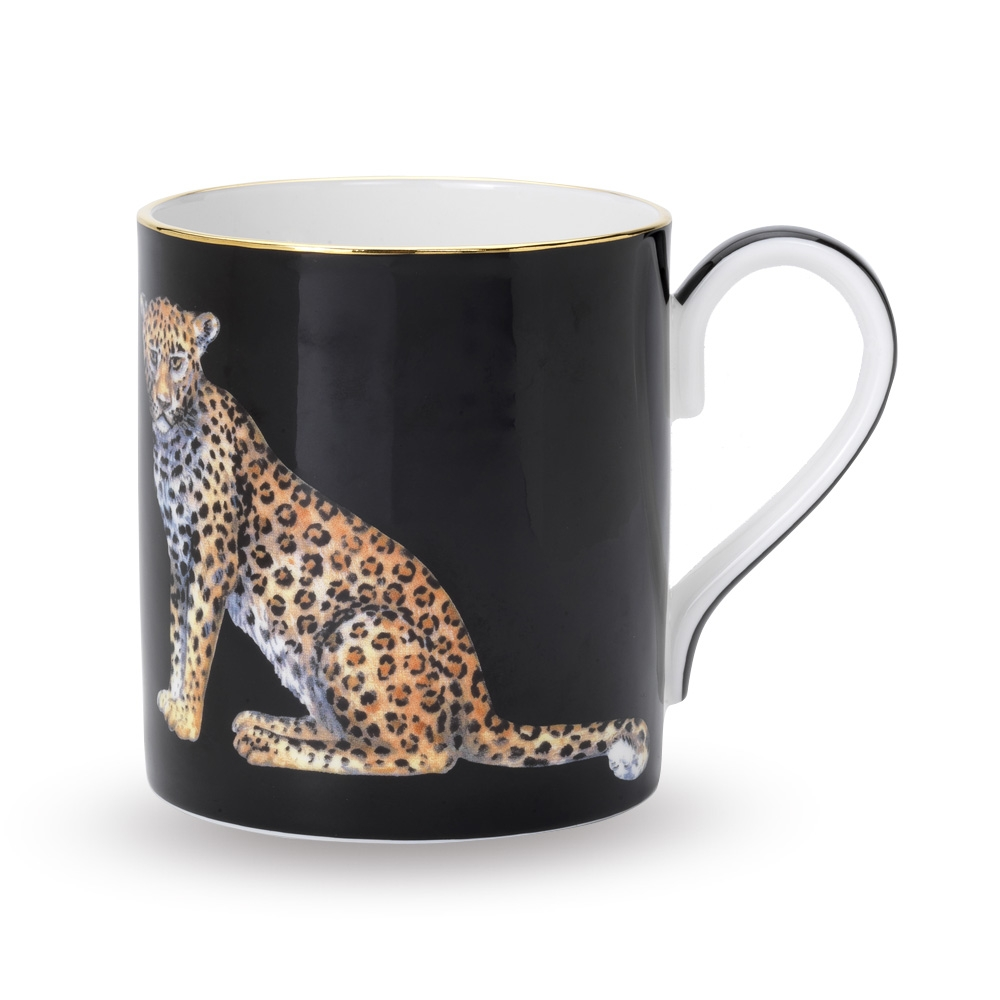 Halcyon Days Leopard Fine Bone China Mug