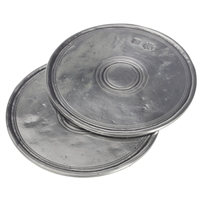 Round Coasters (Pair) by Match Pewter