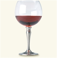 Crystal Balloon Wine Glass by Match Pewter
