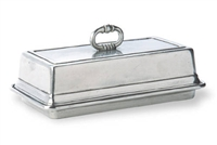 Butter Dish with Cover by Match Pewter