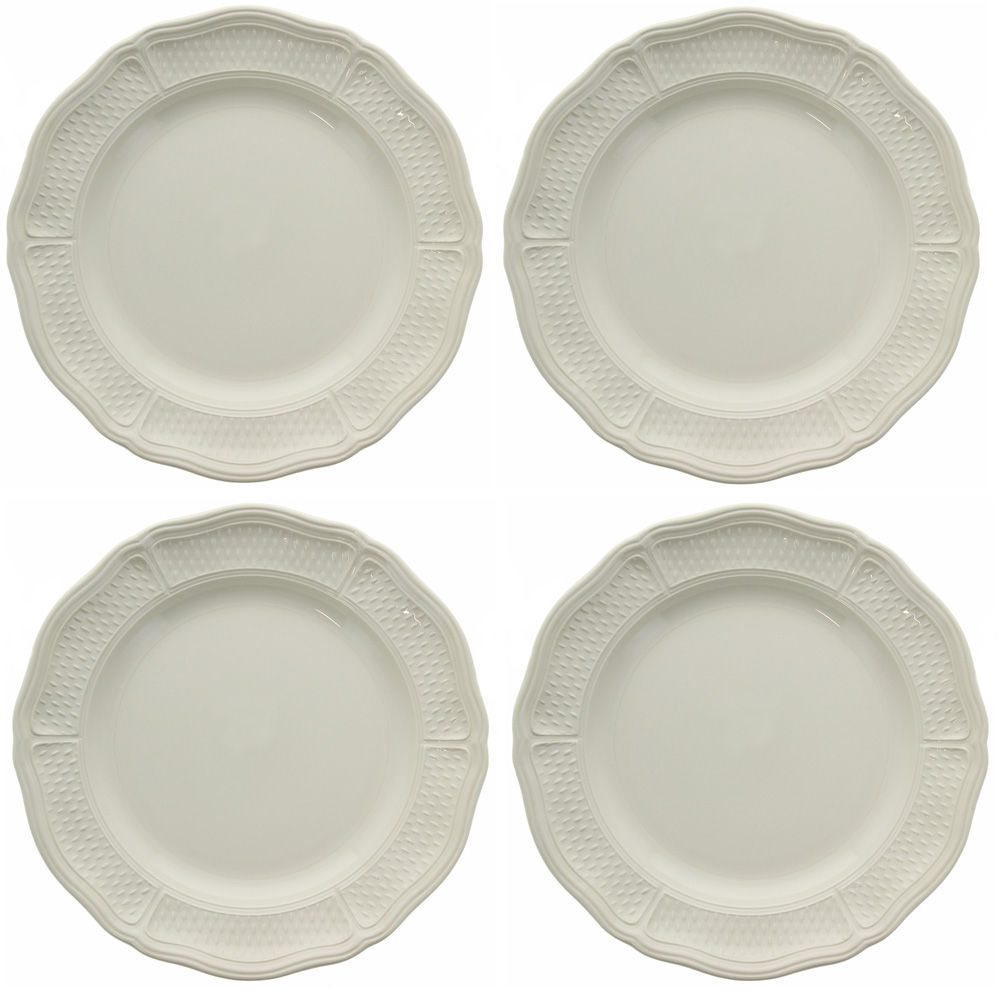 Alternative Views  sc 1 st  Sallie Home & Gien France - Pont Aux Choux White Dinner Plate (Set of 4)