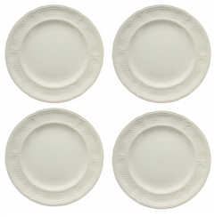 Pont Aux Choux White Dessert Plate (Set of 4) by Gien France