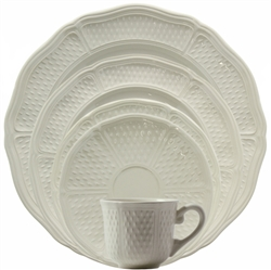 Pont Aux Choux White 5 Piece Placesetting by Gien France