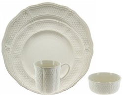 Pont Aux Choux White 4 Piece Placesetting by Gien France