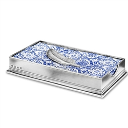 Dinner Napkin Box with Feather by Match Pewter