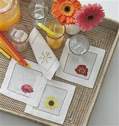 Fiori Cocktail Napkins by SFERRA