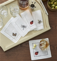 Insetti Cocktail Napkins by SFERRA