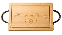 "18"" Personalized Rectangle Wood Cutting Board by Maple Leaf at Home"