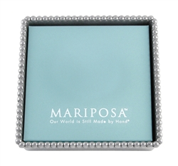 Beaded Napkin Box by Mariposa