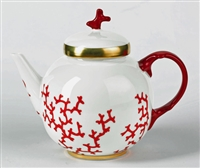 Cristobal Coral Teapot by Raynaud