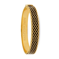 Salamander Black & Gold Bangle - Halcyon Days