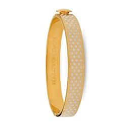 Salamander Cream & Gold Hinged Bangle- Halcyon Days
